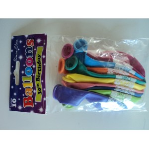 30th birthday balloons for 30th birthday party decoration packs