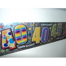 40th Birthday Banner