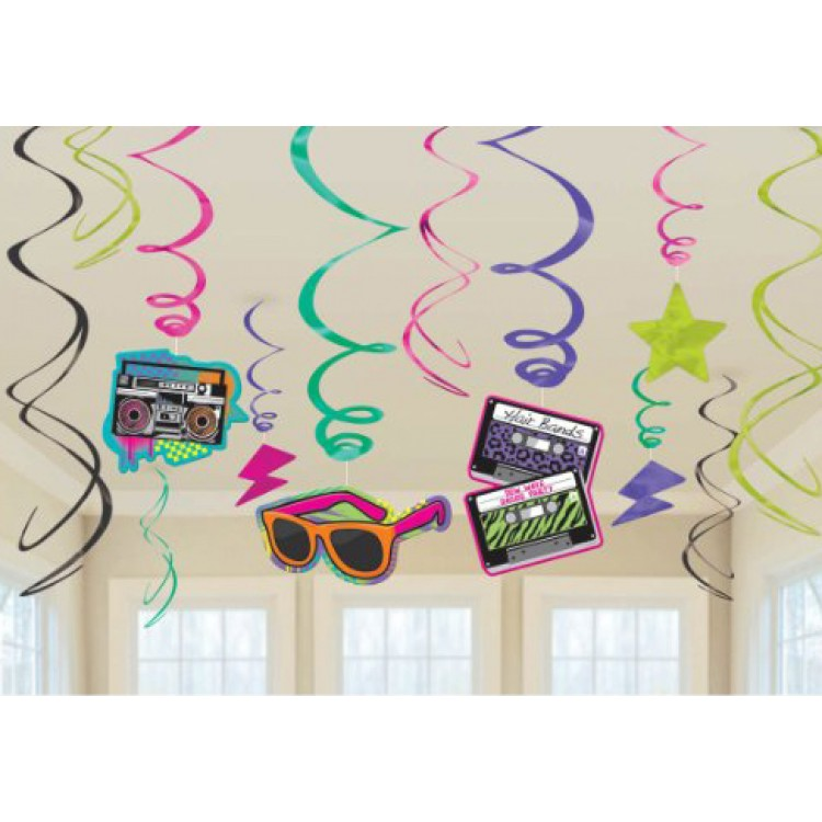 Mega 80s party decorations pack for 30th birthday decoration packs
