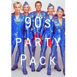 90s Party Decorations Packs