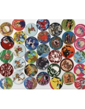 30 Original Pogs, Tazos, Slammers and Milk Caps from the 1990s