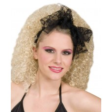 Black Lace Bow Head scarf