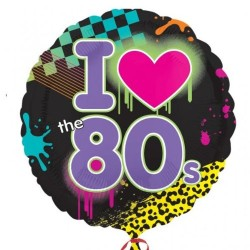 I Love the 80s Helium Balloon