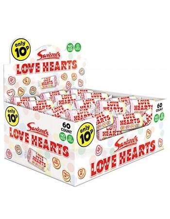 Box of 60 Love heart Sweets