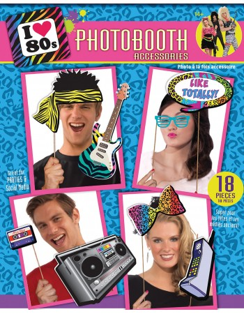 80s Photobooth Props
