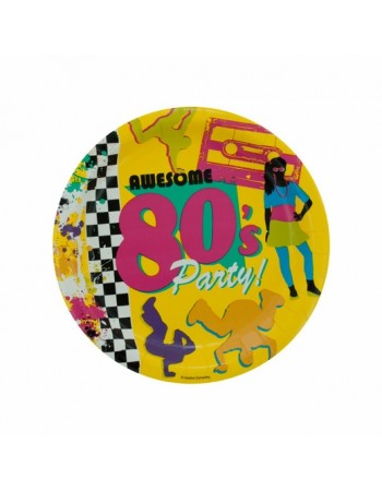 80s Paper plates - 3 designs available
