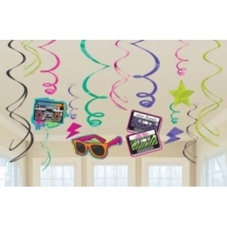 80s Themed Ceiling Swirls