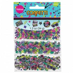 80s Themed Table Confetti