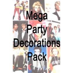 Mega 80s Party Decorations Pack