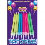 Neon Birthday Cake Candles