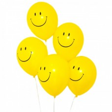 10 Smiley Face Acid House Balloons
